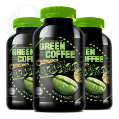 Pack 3 Green Coffee Black Power